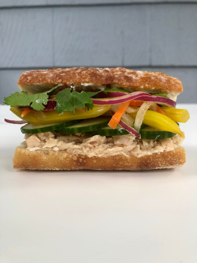Tuna Banh Mi Sandwich with Pickled Yellow Beans