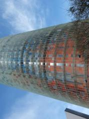 Torre Agbar -watch out for this at night as the building changes colours.