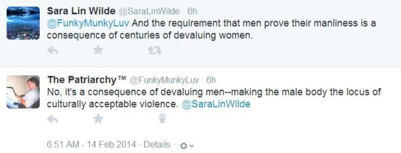 Male suffering is caused by the devaluation of women