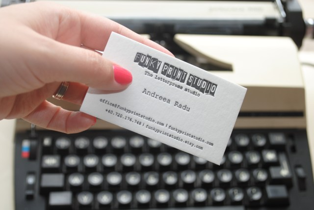 custom letterpress business cards