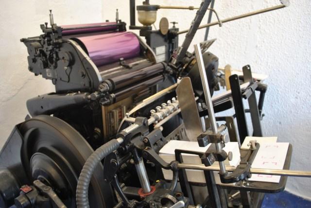 letterpress heidelberg tiegel windmill