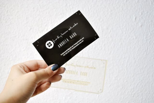 Funky Box Studio letterpress business cards