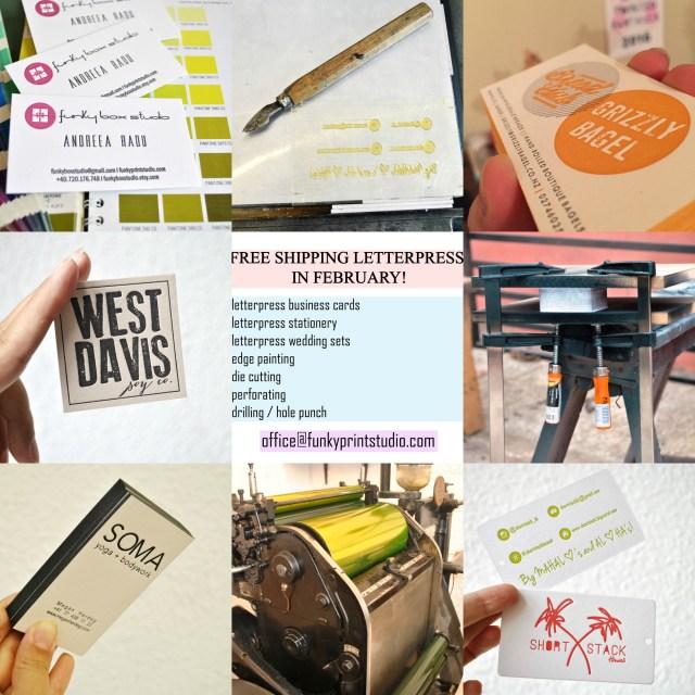 free shipping letterpress