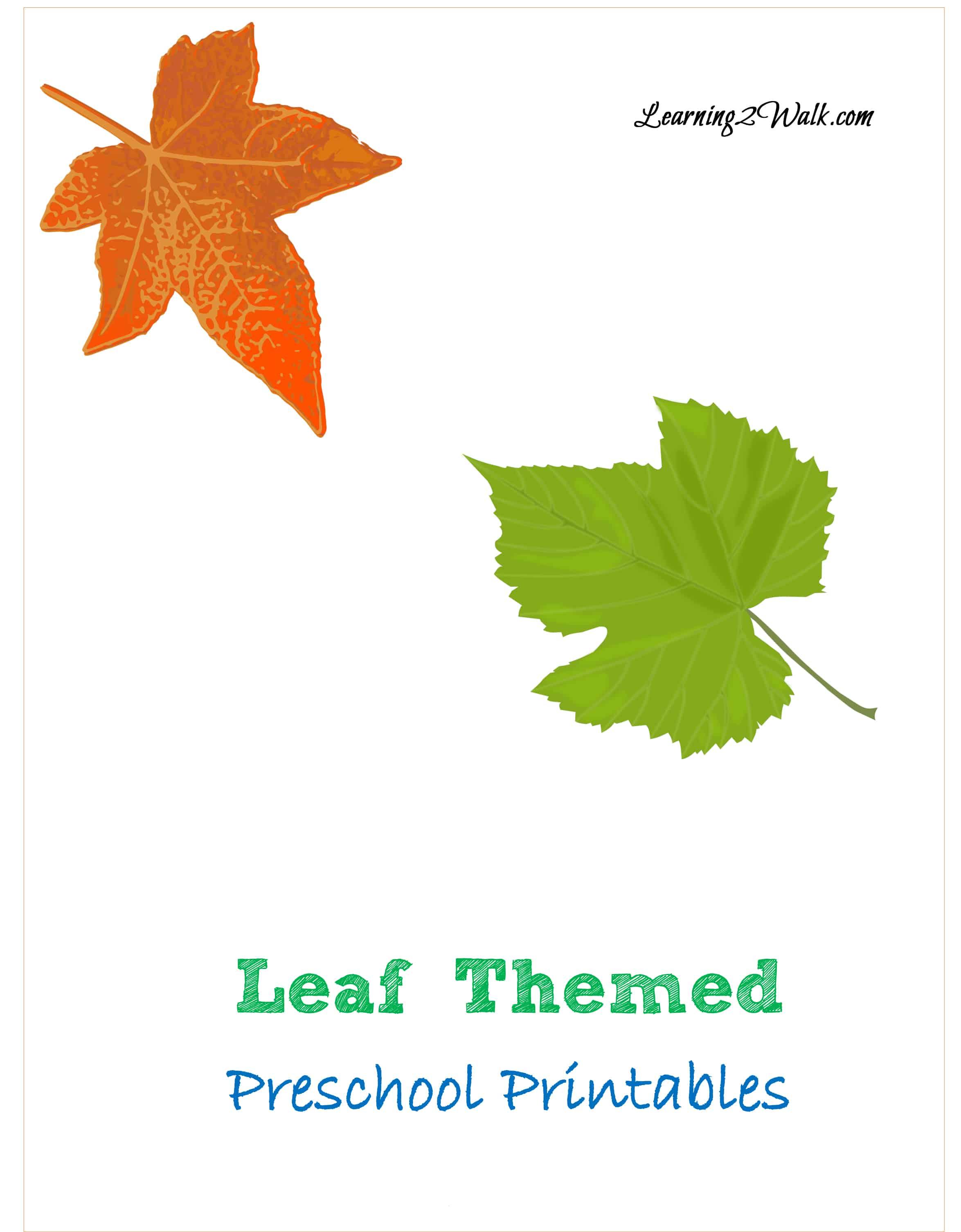 Leaf Themed Preschool Printable