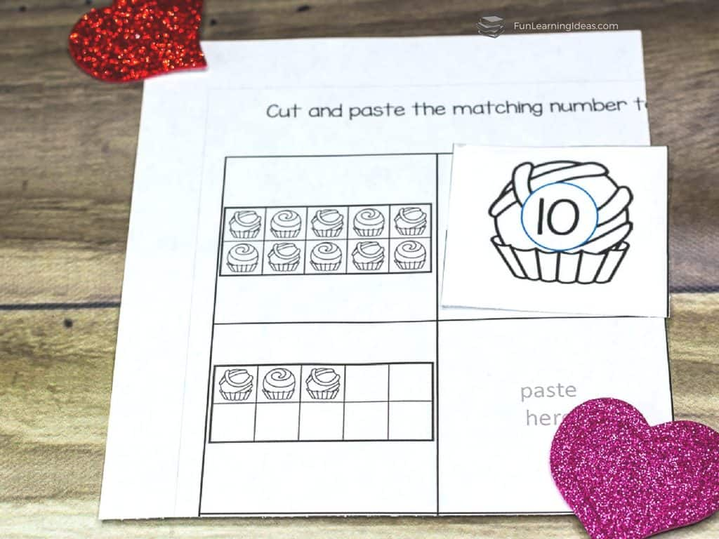 Valentines Tens Frame Worksheets And Cards For Counting