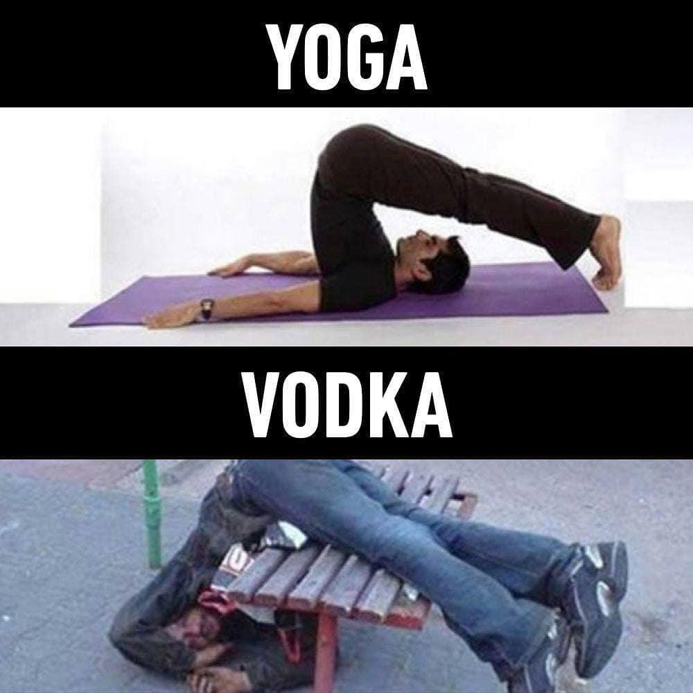 Yoga Vs Vodka Funlexia Funny Pictures