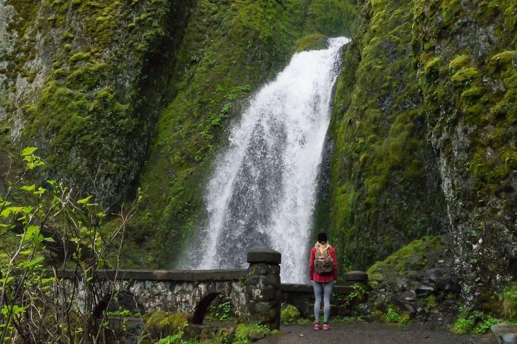 Oregon Portland Multnomah Falls Map