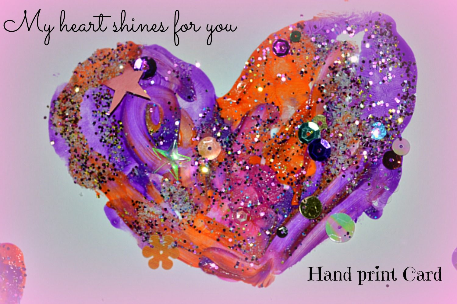 Valentine S Day Crafts For Kids Shiny Hand Prints Cards