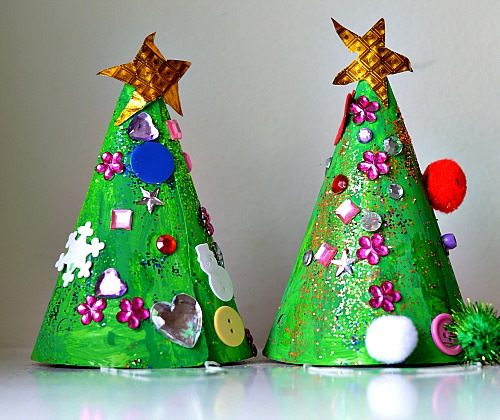 Christmas Crafts For Kids Christmas Tree Hat Craft Fun