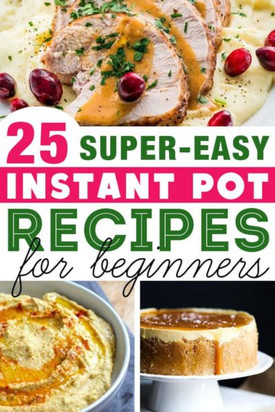 Best Instant Pot recipes for beginners: Ready to start cooking with your new Instant Pot electric pressure cooker? These are the best Instant Pot recipes to start with. They're super-easy and are sure to come out delicious every time. This post has tons of resources for new Instant Pot owners. #instantpot #instapot #electricpressurecooker #instantpotrecipes #easyinstantpotrecipes #besteasyinstantpotrecipes #instantpotforbeginners