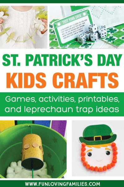 Get loads of fun St. Patricks day crafts and activities for kids. Lots of ideas for Leprechaun traps here, too! #stpatricksday #stpatricksdaycrafts
