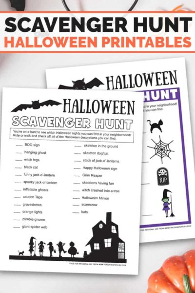 halloween scavenger hunt printouts for kids