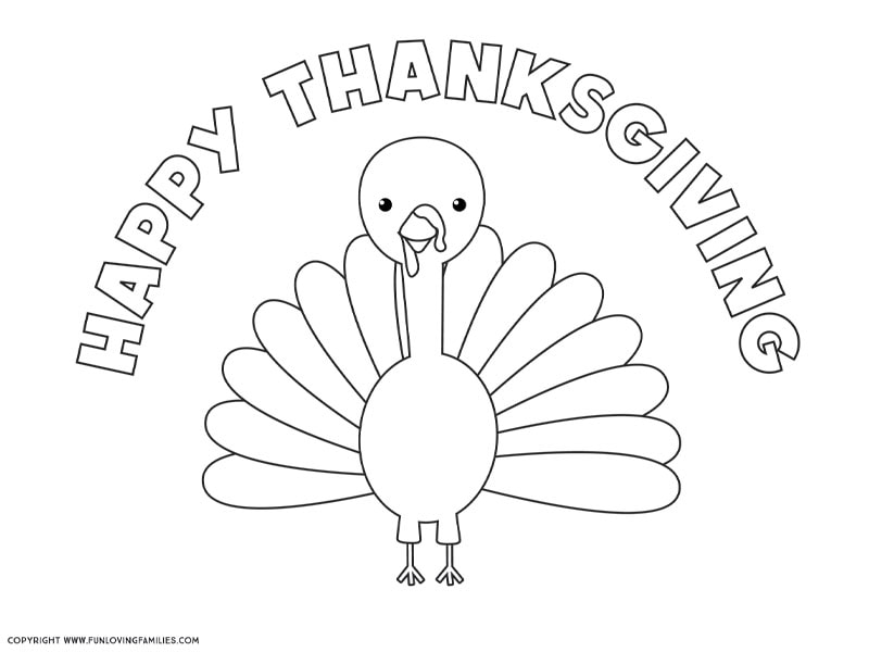 Turkey Coloring Pages That Everyone Will Love - Fun Loving Families
