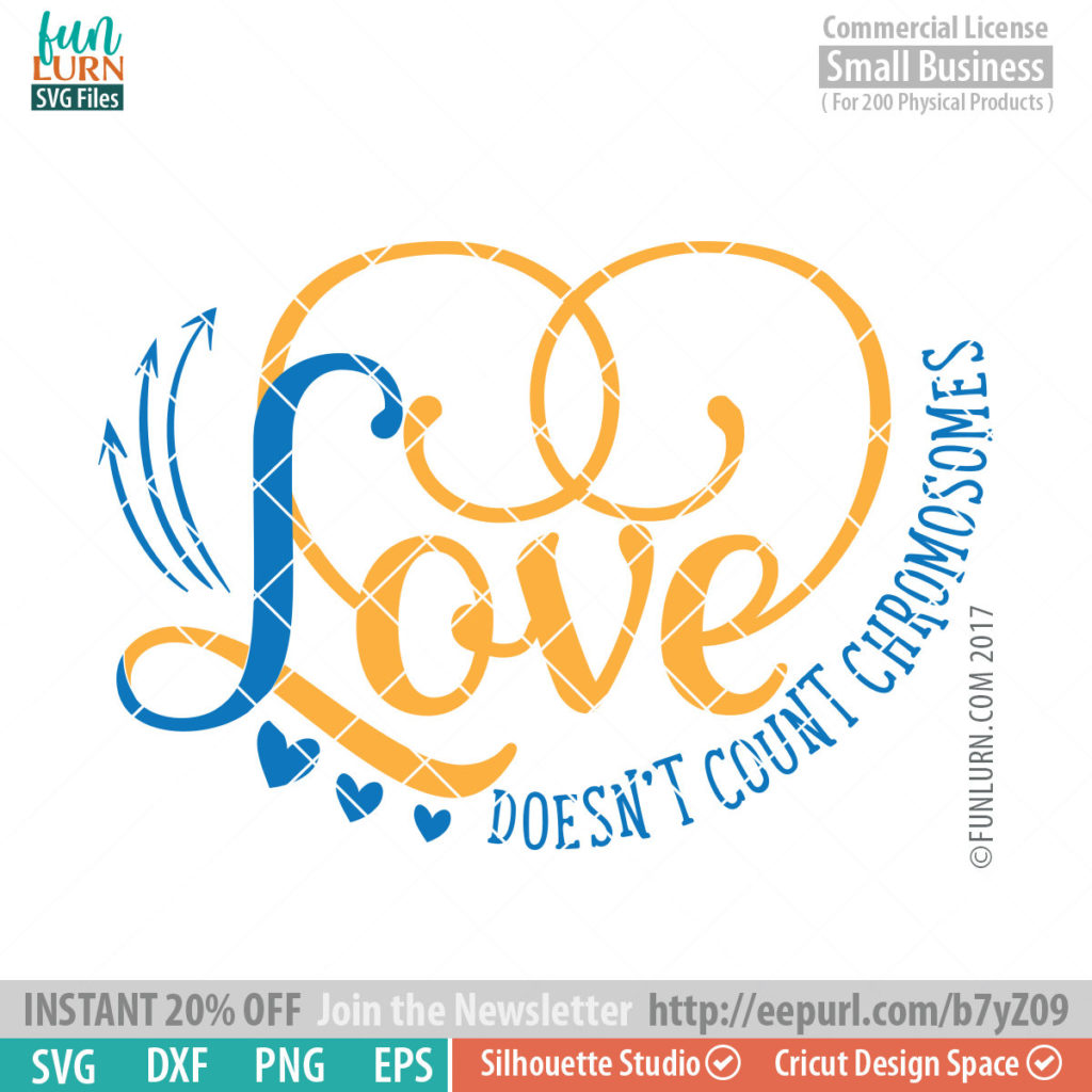 Download Love doesn't count chromosomes svg - FunLurn