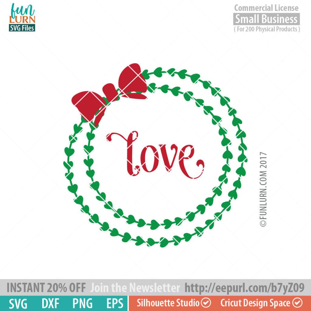Download Love wreath SVG - FunLurn