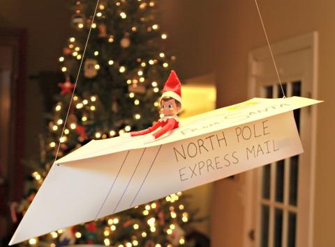 Elf On The Shelf Ideas - Paper Airplane