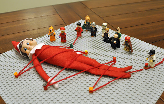 Elf On The Shelf Ideas - Elf Under Attack