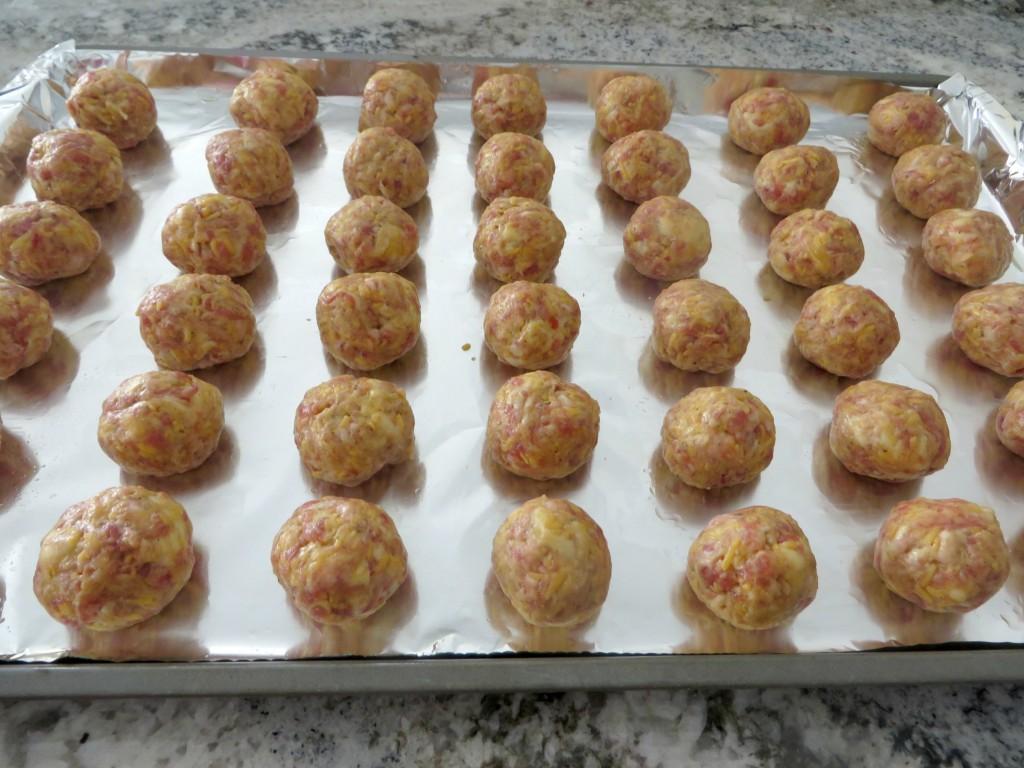 Uncooked balls