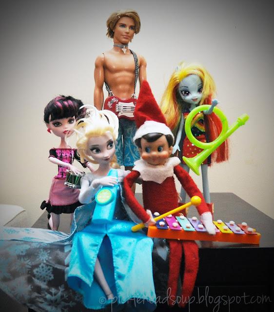 Elf On The Shelf Ideas - Rock Band