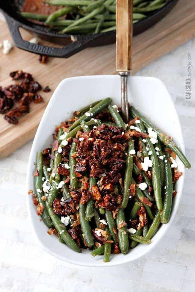 Dijon Maple green beans