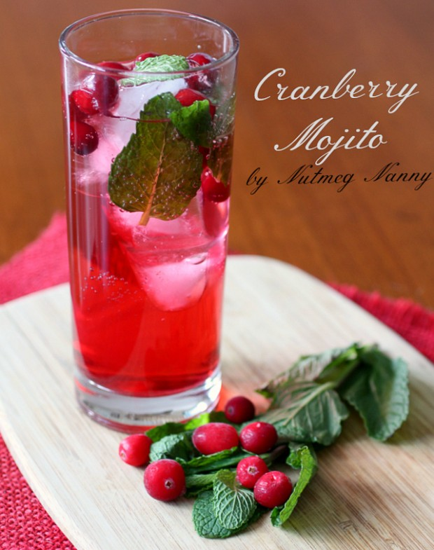 christmas-cocktails-Cranberry-mojito