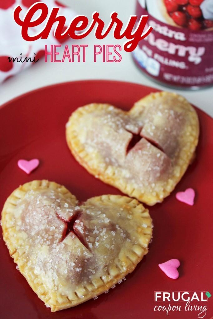 Cherry Heart Pie Valentine's Day Desserts
