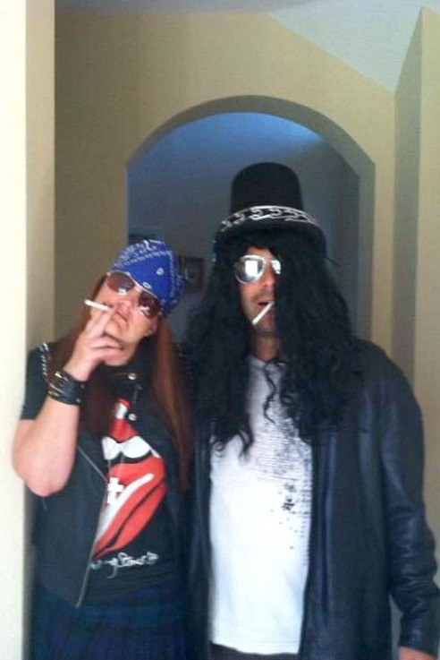 Axl and Slash Halloween costumes for couples