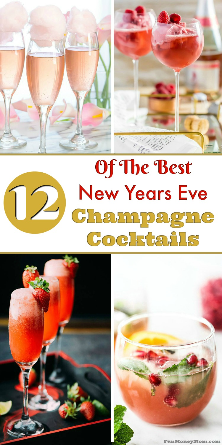 Looking for the perfect champagne cocktail to toast the new year? These delicious New Year's Eve cocktails will get the year off to a great start! So perfect for your New Year's Eve party or even brunch!
