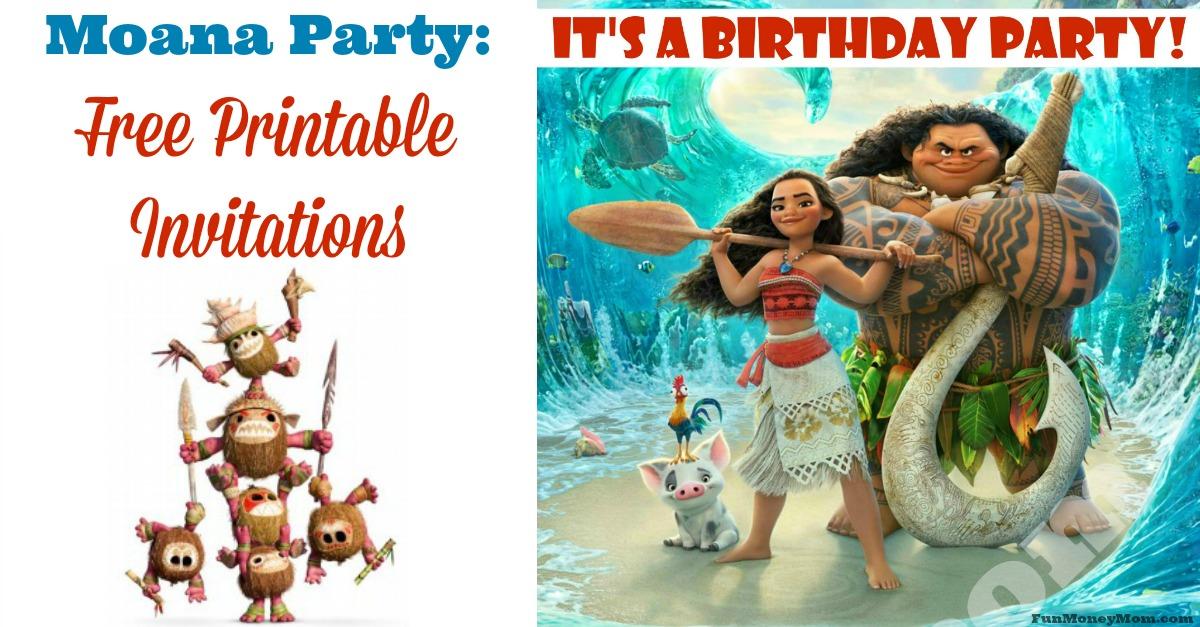 Moana Birthday Invitations Free Printable Invitations