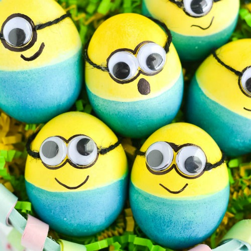 Minions Easter egg decorating ideas