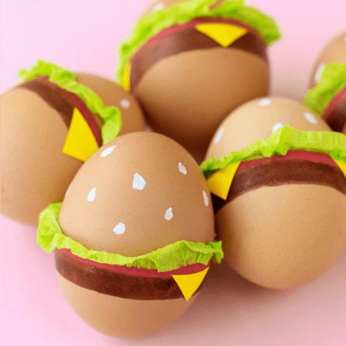 Hamburger Easter egg decorating ideas