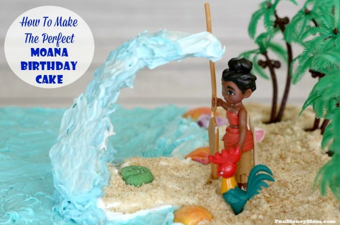 Make the perfect Moana birthday cake for your little girl's party.