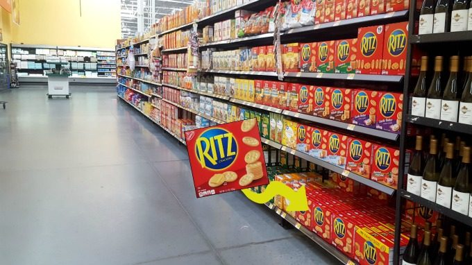You can easily find RITZ crackers at Walmart