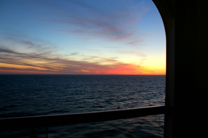 The view from on board the Disney Wonder cruise was pretty amazing