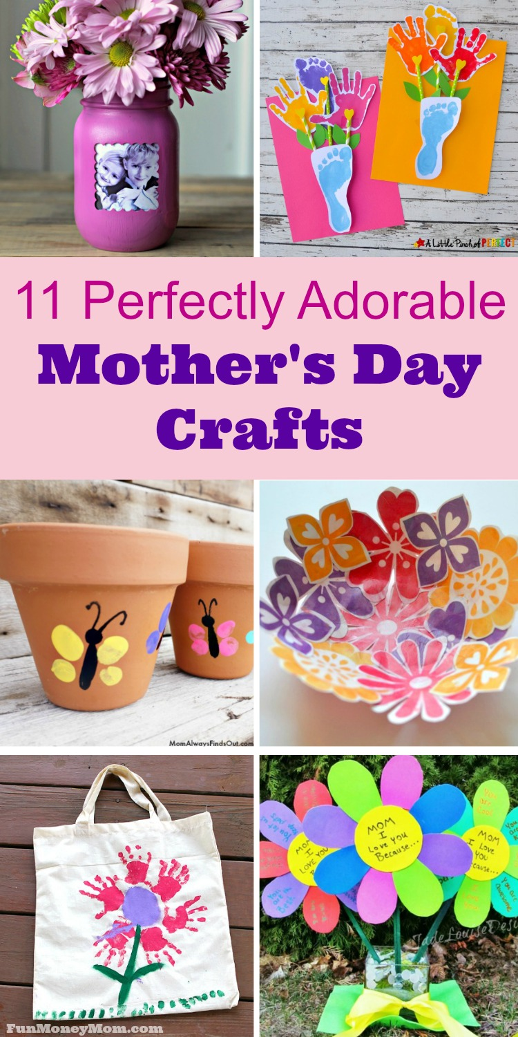 Mother's Day Crafts - Need some great Mother's Day gift ideas? Let the kids create homemade gifts this year with these super cute Mother's Day craft ideas.