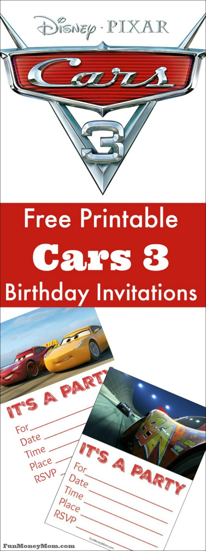 Lightning Mcqueen Birthday Invitations Free Printable Zaxa Tk