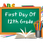 12th grade first day of school signs