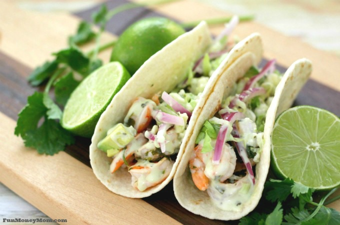 Add cilantro lime tacos to your list of menu planning ideas