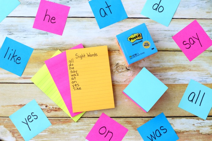 As your child learns Kindergarten sight words, replace them with new ones