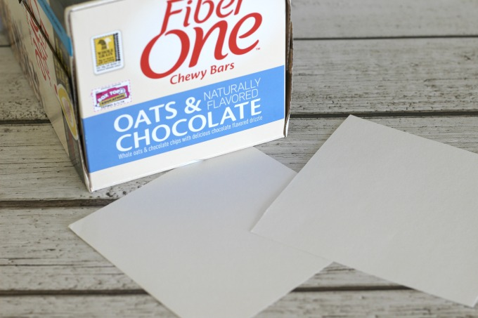 Get started on your Box Tops Collection Box with two white squares.