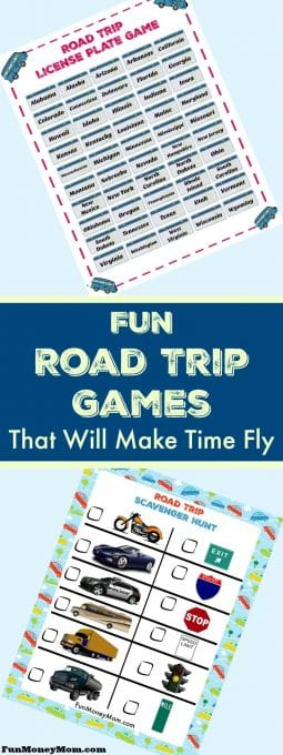 Planning a road trip? You're going to need road trip games to keep the kids entertained! Older kids will love playing the license plate game while younger ones will have fun with the road trip scavenger hunt. Throw these free printables in the back and you're good to go! #RoadTripOil #ad