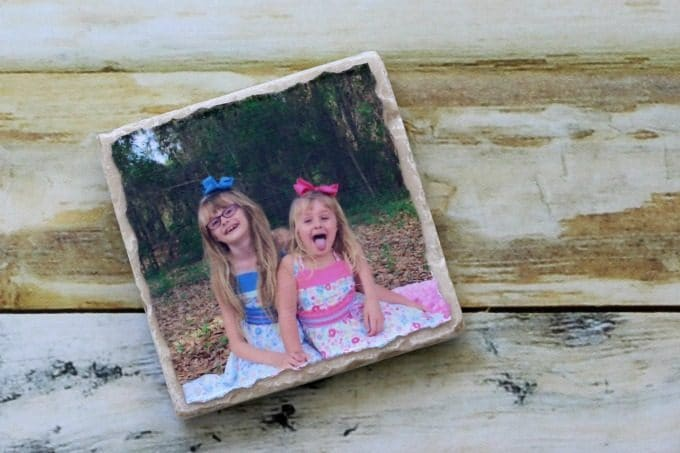 You can use any picture you like for cute photo coasters.