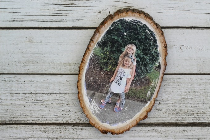 I absolutely love the way our wood photo transfer turned out!