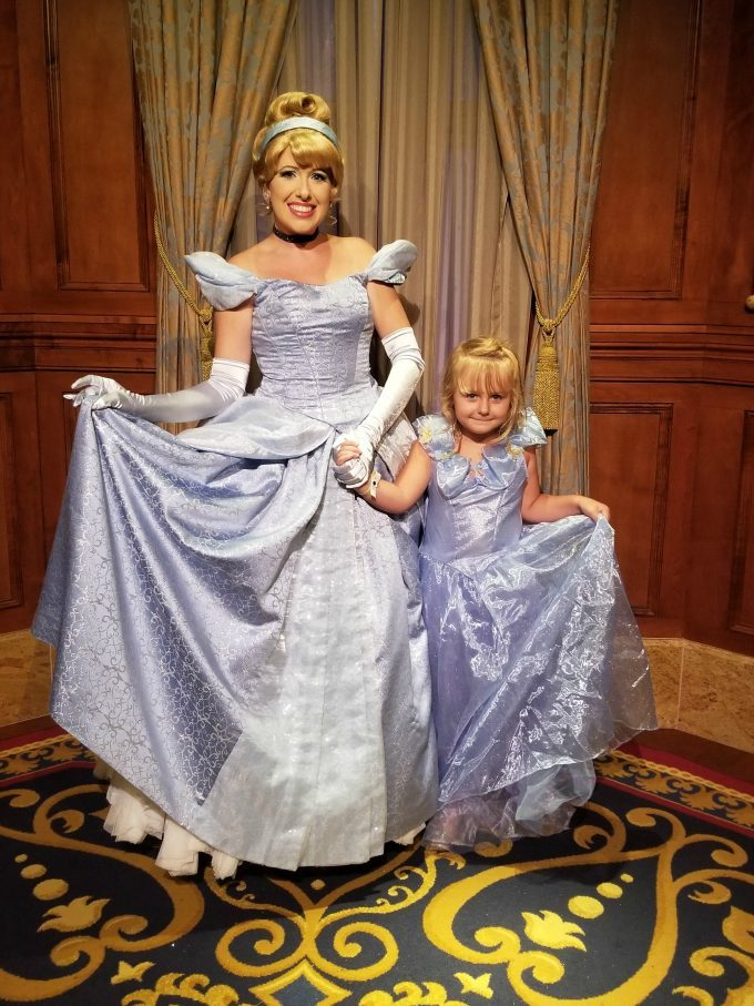 Even Cinderella liked my daughter's easy Halloween costume.