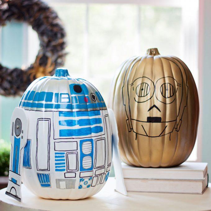 Star Wars No Carve Pumpkins