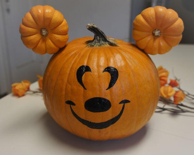 Mickey Mouse No Carve Pumpkins