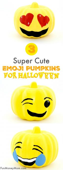 If your kids love emojis as much as mine do, they'll have a blast making their own emoji pumpkins!These cute no carve pumpkins are the perfect Halloween craft for kids!