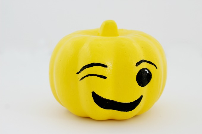 """I knew the """"winky"""" face had to be one of my emoji pumpkins"""