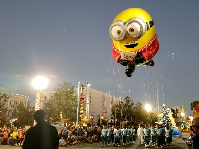 You can enjoy a fun holiday parade with giant balloons when you visit Universal Orlando Resort for Christmas