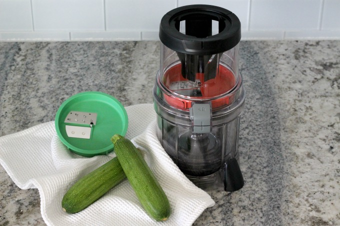 The auto spiralizer is perfect for making pesto zucchini noodles